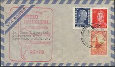 LETTRE COVER 1ER VOL INAUGURAL ARGENTINE BUENOS AIRES MIAMI FIRST FLIGHT 1935
