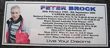 "Peter Brock  ""NEW"" Photo  Silver Plaque FREE Postage"