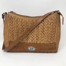 American West Brown Leather Purse Bag Handbag Western Cowgirl Womens ******