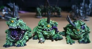 40k Chaos Daemons Plague Toads of Nurgle x3