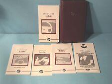 97 1997 Mercury Sable owners manual