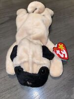 Original Ty Beanie Baby PUGSLEY The Dog Style 4106 With Tag