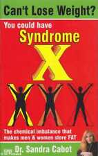 Sandra Cabot CAN'T LOSE WEIGHT? YOU COULD HAVE SYNDROME X SC Book