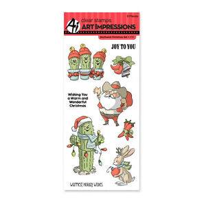 Southwest Christmas, Clear Unmounted Rubber Stamp Set ART IMPRESSIONS - New 4787