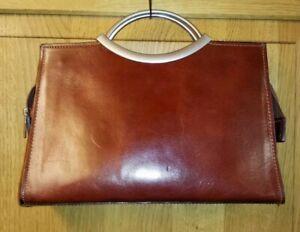 Vintage Tan Brown Thick Quality Leather Grab Bag