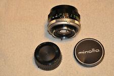 Minolta MC Rokkor-PF 55mm f/1.7 Manual Focus Lens w/caps