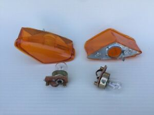 Amber 2x Indicator Lights   MERCEDES 220se  280se 3.5 coupe w111 W108 W109 W112