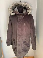 Roxy Gorgeous Grey Parka coat/jacket Large 14-16 Good Condition