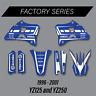 YAMAHA FACTORY GRAPHICS YZ125 YZ250 1996 1997 1998 1999 2000 2001 INTERNATIONAL
