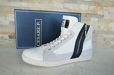 Cesare Paciotti High-Top sneakers GR 43 9 schnürschuhe zapatos white nuevo PVP 230 €