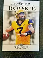 25 count lot 2019 Leaf Draft WILL GRIER Carolina Panthers Rookies West Virginia
