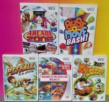 5 Game Lot Nintendo Wii / Wii U Namco Museum Arcade Zone Pitfall Bust a Move