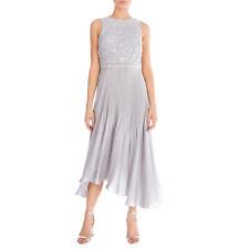Coast 3D Grey Lace Toola Dress - Size 12