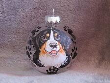 HAND MADE BERNESE MOUNTAIN DOG GLASS CHRISTMAS ORNAMENT / BALL
