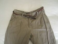Miso Stone Belted Chinos, Size: 14