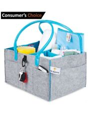 Sturdy Baby Diaper Caddy Organizer – Includes Bonus Waterproof Changing Pad – 8