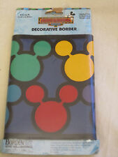 Vtg Mickey & Friends Decorative Border 8.4 Feet Scrapbook Accent Mickey Mouse