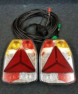 Radex 6900 Trailer Multi Function Lights inc Reverse Lamp & 13 Pin 6m Harness