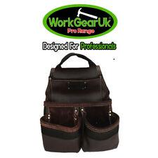 Tool Pouch 4 Pocket Heavy Duty Split Leather oil-Tan WG-PX28 Work Gear UK