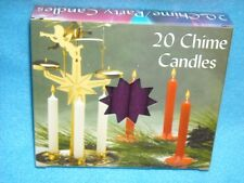 "Angel Chime Party Candles, 1/2"" Diameter x 4"" Tall, 20 in New Box, Purple"