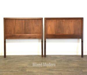 Walnut Mid Century Modern Twin Headboards- a Pair