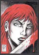 RED SONJA TRADING CARDS (BREYGENT 2011) SKETCH ART CARD by DAVE FOX