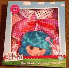 BRAND NEW LALALOOPSY SEW SWEET COMPLETE DRESS SET WIG COSTUME AGE 3+ 4-6X ROSY