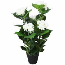 vidaXL Kunstplant Hortensia met Pot 60 cm Wit Huisdecoratie Kunstplanten