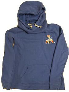 Junk Food Womens Blue New England Patriots Hoodie Size S Funnel Neck Pouch