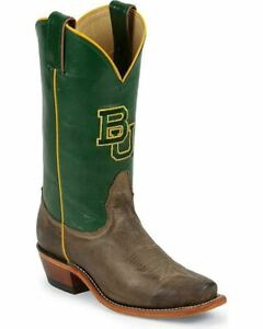 Nocona LDBU22 Women's Baylor Tan Vintage/Green Branded College Boots