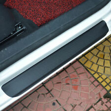 4pcs Car Door Sill Scuff Welcome Pedal Protector Carbon Fiber Stickers Mats