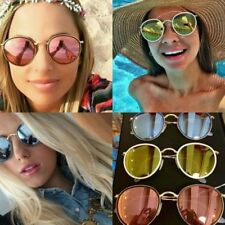 Ray Ban RB3517 Round Folding Metal Gold frame Pink Gold silver Mirrored lens