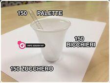 10 KIT ACCESSORI 1500 PEZZI CAFFE BICCHIERI BICCHIERINI + PALETTE + ZUCCHERO