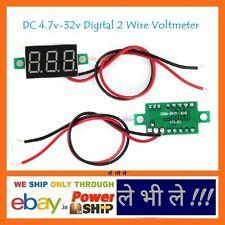 E8 DC 4.7-32V Portable Digital Voltmeter Red LED Panel Voltage Meter with 2 Wire