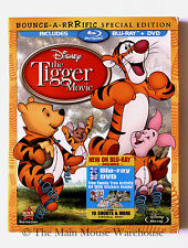 Disney The Tigger Movie Blu-ray & DVD + 10 Winnie Pooh Cartoon Shorts Sing Along