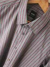 HUGO BOSS Men's Fitted Regular Collar Casual Shirts & Tops