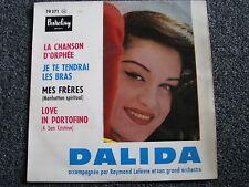 Dalida-La Chanson De Orphée 7 PS-4 Track EP-1959 France-45 U/min-Barclay