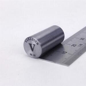 Vanadium Metal Rod 99.95% 9grams 10diameter x 20mm length Element V Specimen