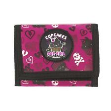 David & Goliath Tri Fold Purse Wallet pink cupcakes are evil purse dgce8686fus