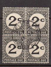 British Honduras #J2 Very Fine Used Scarce Block