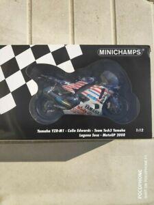 --- Minichamps YAMAHA YZR-M1 MotoGP Laguna Seca 2008 limited edition Edwards ---