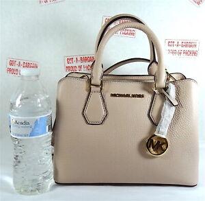 Michael Kors Camille Pebbled Leather Small Satchel Messenger Crossbody Bag