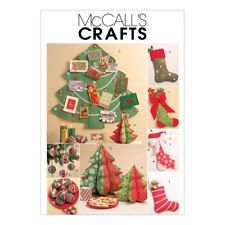 McCalls Crafts Easy Sewing Pattern 5778 Christmas Stockings & Decorations...
