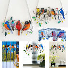 Stained Acrylic Birds-On-A-Wire Window Panel Hanging Suncatcher Ornament Gift UK