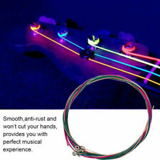 6 String Electric Bass Guitar Strings Light Gauge .046 To .100 Colored