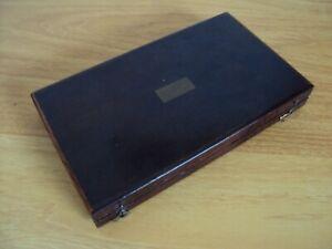 An Antique Mahogany Box Of Drawing Instruments