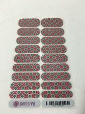 Jamberry Poinsettia RETIRED Full Christmas Knit Sweater Sparkle Holiday Red