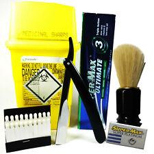 Platinum Barbershop Shaving Set Sharps Box For Safe Blade Disposal Free Delivery