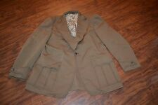 A13- Vintage Single Button Brown Jacket