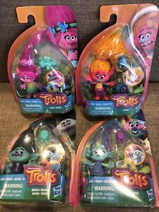 Dreamworks Trolls Small Toy figures New Set Of 4